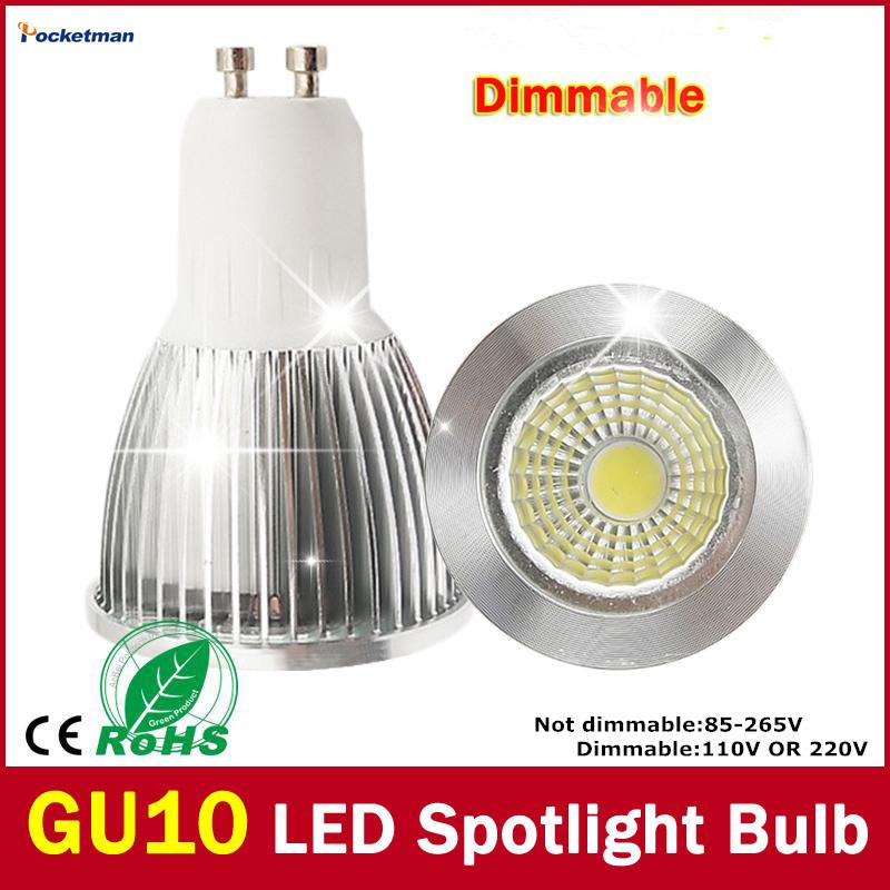 Wholesale Super Bright 7W 5w 3W 15W GU10 LED Bulb Light 110V 220V Dimmable Led Spotlights Warm/Cool White LED GU10 COB 1pcs/lot(China (Mainland))