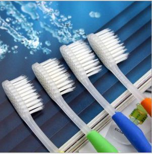 20pce/lot High-quality Bamboo toothbrush tip toothbrush white top more color + Free Shipping