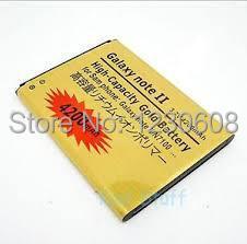 Для samsung note2 примечание 2 n7100 n7102 n7108 4200 мач высокая емкость бизнес золото аккумулятор eb595675lu