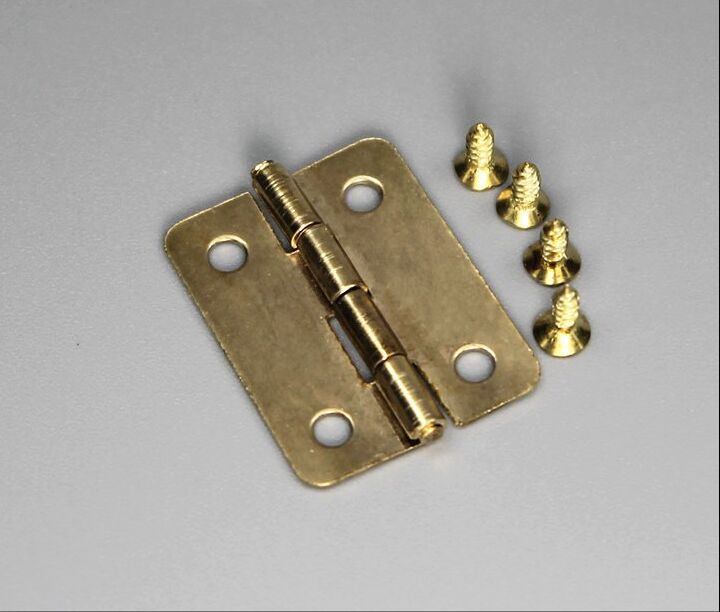 50sets/lot,NEW 2.5*1.9cm/ 0.96*0.74 inch Mini Cabinet Drawer Butt Hinge brass small hinge 4 small hole 3mm copper hinge + screws(China (Mainland))