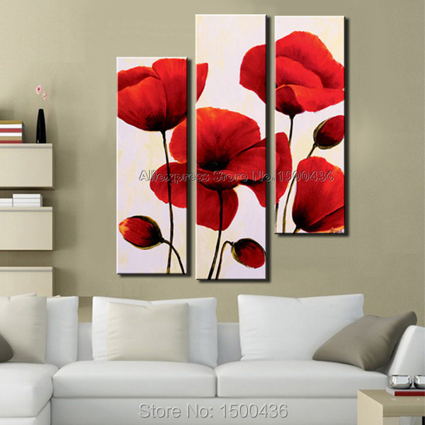 hand painted canvas oil paintings sets 3 piece abstract. Black Bedroom Furniture Sets. Home Design Ideas