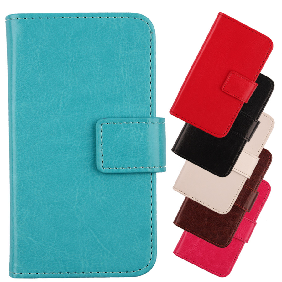 Full Cell phone protector PU Leather case for Sony Xperia E4 E2105 Flip cover phone shell with Credit card holder Simple design(China (Mainland))