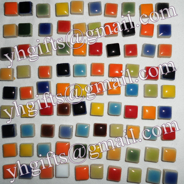 Buy 600pcs 600gram lot ceramic mosaic for Craft mosaic tiles bulk