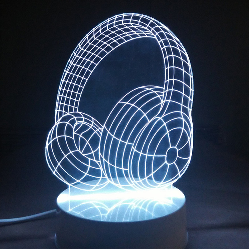 3D LED Night Light 16 Mood Color Changeable Color LampTable Lamp Novelty Gift Desk Abajur Touch Switch USB Remote Control Light(China (Mainland))