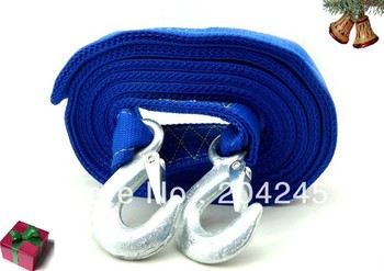 wholesale!!5 Ton !Car trailer rope trailer belt 4.5 meters trailer hook Car Tow Rope Strap/Belt, Towing Ropes Real materials