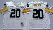 Pittsburgh Steelers Terry Bradshaw Rocky Bleier LeVeon Bell Franco Harris Jerome Bettis Throwback for mens(China (Mainland))