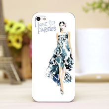 hand-painting love parties Design cellphone casess For iphone 4 5 5c 5s 6 6plus Shell Hard transparent Skin Shell cover cases