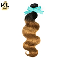 Buy KL Hair Brazilian Body Wave Ombre Hair Bundles T1B/27 Color Hair 100% Human Hair Weaving Remy Hair Extensions Free for $58.32 in AliExpress store