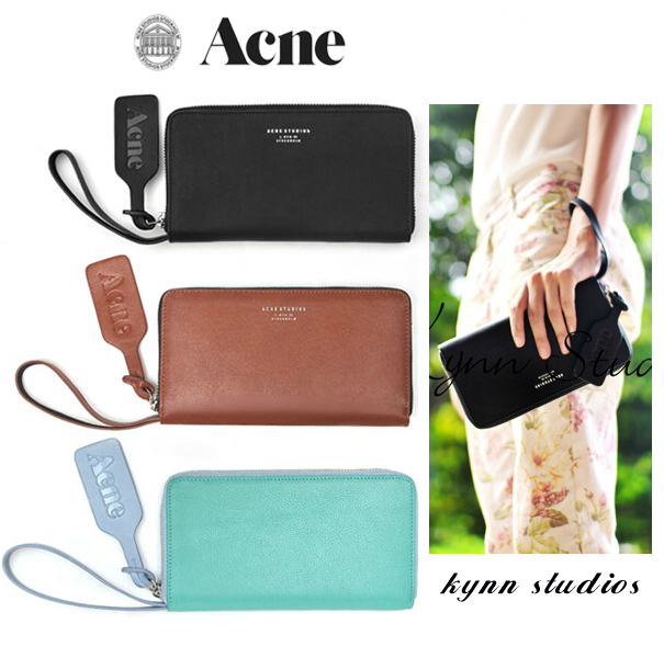Women Wallets Brand Designers ACNE Women Luxruy Wristlet Lady Acne bag Genuine Leather Wallet Womens Acne studios Drop shipping(China (Mainland))