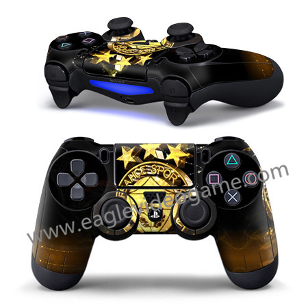1 pc free shipping for ps4 controller sticker whole cover football team BVB juventus ac milan chelsea Fenerbahce(China (Mainland))