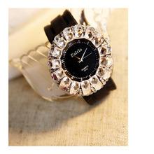 Luksusowa Marka Kobiety Sukienka Zegarki Relogio Feminino Stalowy Kwarcowy Zegarek Diamenty Anlog Waches kwarcowy-zegarek Zegarki Dla Womans(China (Mainland))