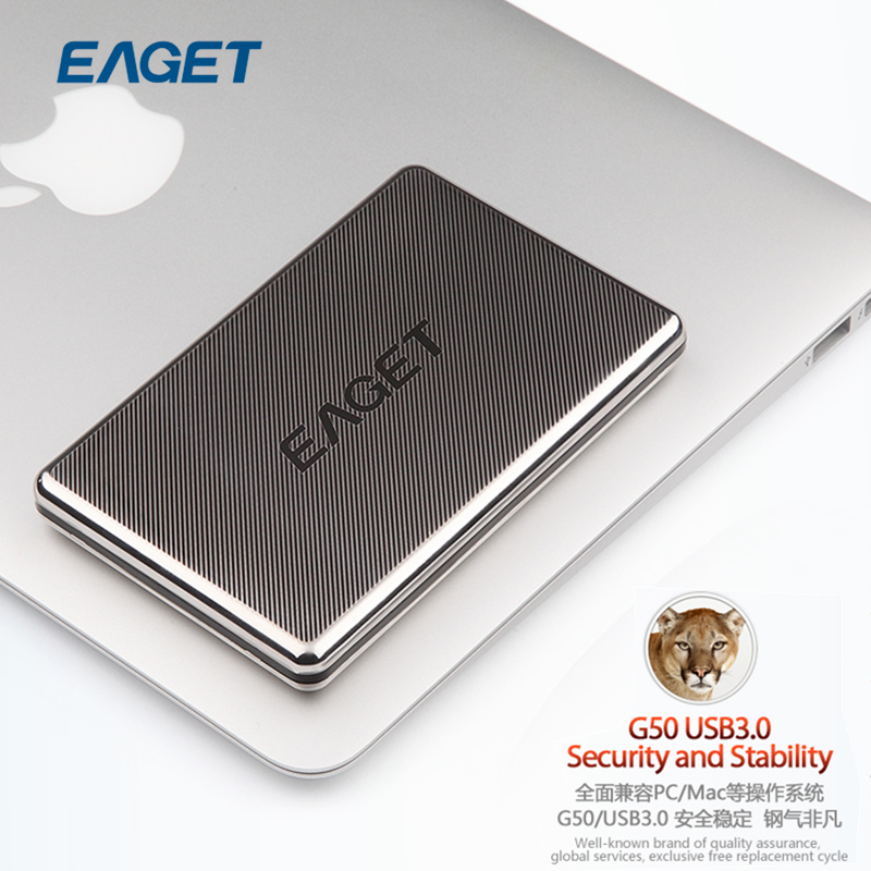 Original EAGET G50 2.5 inch 500GB 1TB USB 3.0 Stainless Steel Hard Disk HDD Encryption External Hard Drives(China (Mainland))