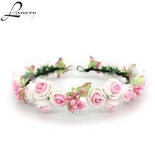 Buy Lanxxy Women Girls Hair Accessories Floral Crown Headwear Fashion Headband Women Wedding Bridal Hair Bands Rose Wreath for $5.25 in AliExpress store