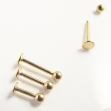 Free Shipping Gold Labret Ring 16G 3mm ball surgical Stainless Steel ball Labret Bar tragus ear