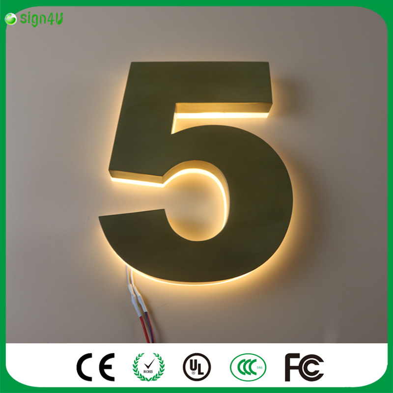 Custom lighted house number signs any size, any color, any font is available(China (Mainland))