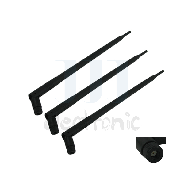 3pcs 9dBi RP-SMA Dual Band 2.4GHz 5GHz 5.8GHz WiFi antenna for Omni Directional Antennas Network Repeater(China (Mainland))