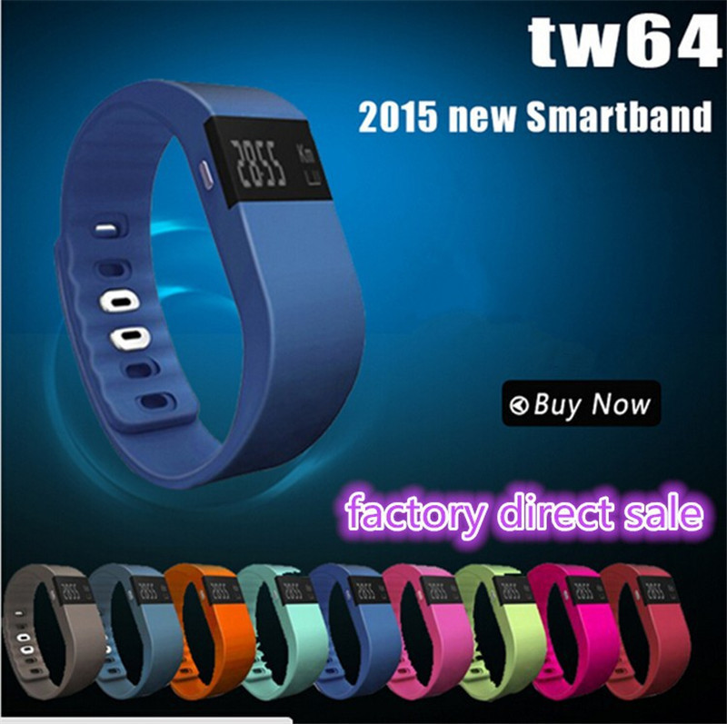 New TW64 Smartband Smart Sport Bracelet Wristband Fitness tracker Bluetooth fitbit flex Watch to ios android better than mi band(China (Mainland))