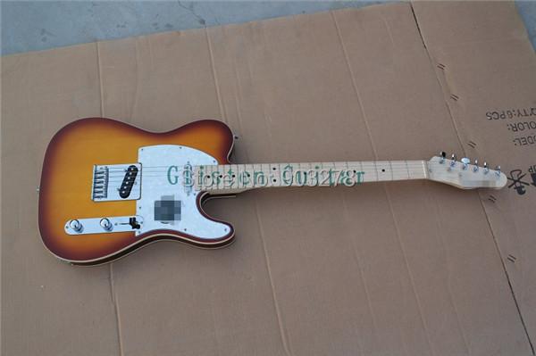 Фотография 100% New Arrival  sunburst Electric Guitar with body binding  t35