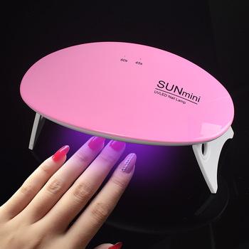 1Pc Sunmini 6W Mini Portable Nail Dryer Purple Light USB LED UV Lamp For Nails Cure All Nail Gel With Timer 30S/45S Nail Lamp