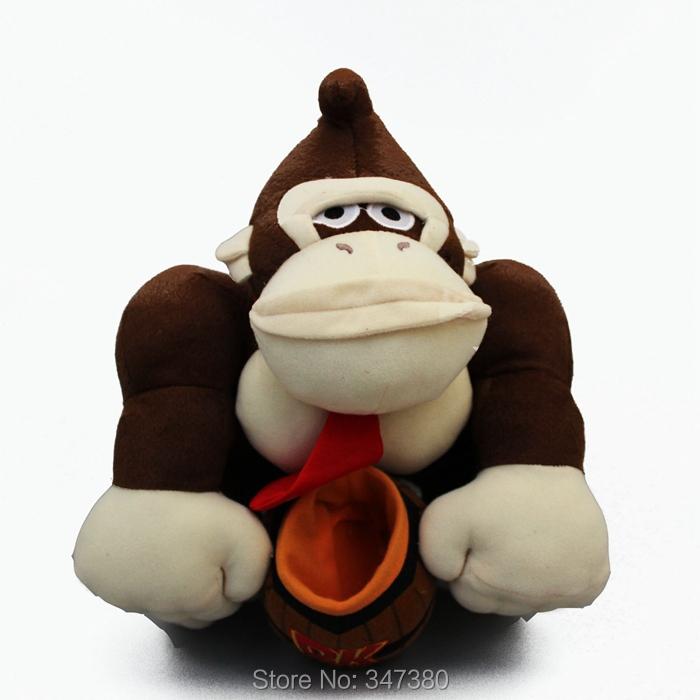 5pcs/lot Free Shipping Super Mario Bros Monkey Donkey Kong Plush Toys Stuffed Dolls Kids Toys 30cm<br><br>Aliexpress