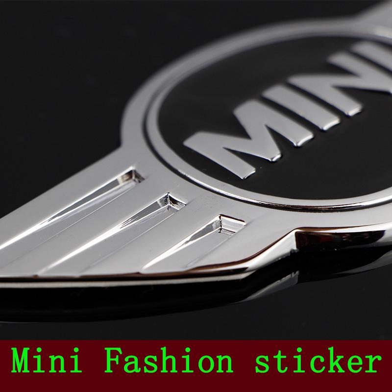 Mini Cooper Logo 3D Car Stickers Metal Emblems for MINI Car Front Badge Logo with 3M sticker for Car Badges Emblem Decoration(China (Mainland))