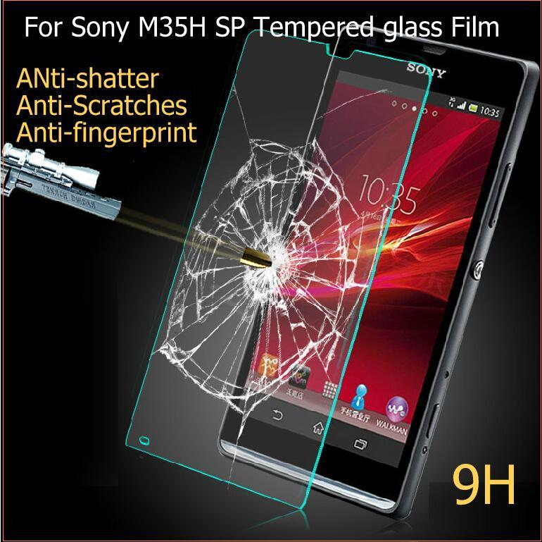 Гаджет  Top Quality 0.26MM Ultra Thin 2.5D 9H Tempered Glass Screen Protector Films For Sony M35h Xperia SP C5302 C5303 Fast Shipping None Телефоны и Телекоммуникации