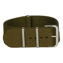 Venta al por mayor 24 mm deporte verde del ejército tela otan Nylon correas de reloj correa de reloj accesorios bandas hebilla de correa 24 mm