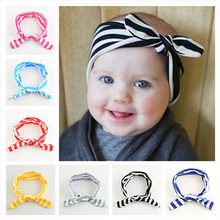 Headwear Vintage Knotted Bow Headband Baby Girl Headband Infant Hair Headband Baby Turban Hair Accessories Head Bandsw–137