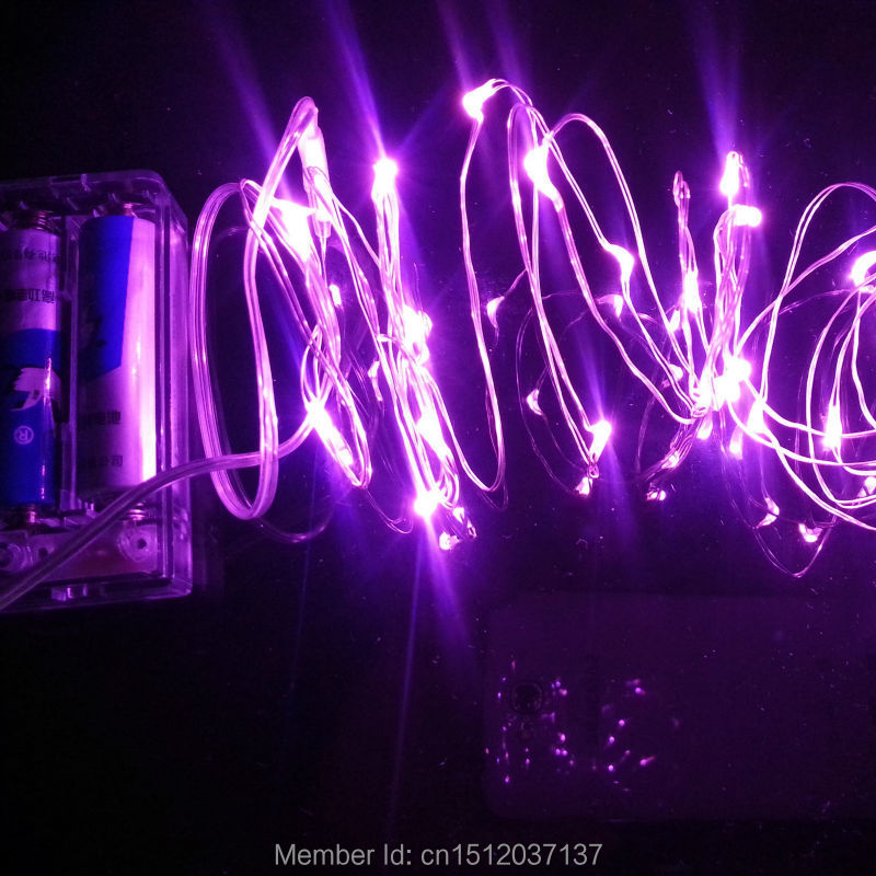 Purple Blue String Lights : Aliexpress.com : Buy Purple Led mini Silver Wire String Lights 2M 20leds Warm White and White ...
