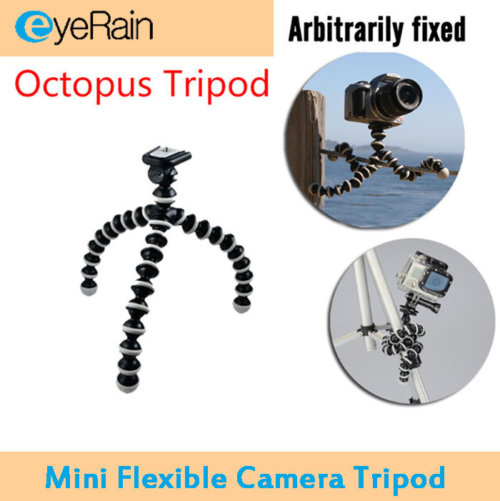 Digital Camera Mini Tripod Stand Flexible Grip Octopus Bubble Pod Monopod Flexible Leg Small Camera Holder for Gopro SJ4000(China (Mainland))