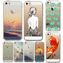 For Apple iPhone 5 5S  New Arrival Hot Soft TPU Phone Skin Case Transparent Clear Back Case Cover