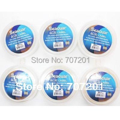 7pcs Seaguar Blue Label Fluorocarbon Leader Material Fishing Line 50YD 15LB 20LB 25LB 30LB  40LB 50LB 60LB