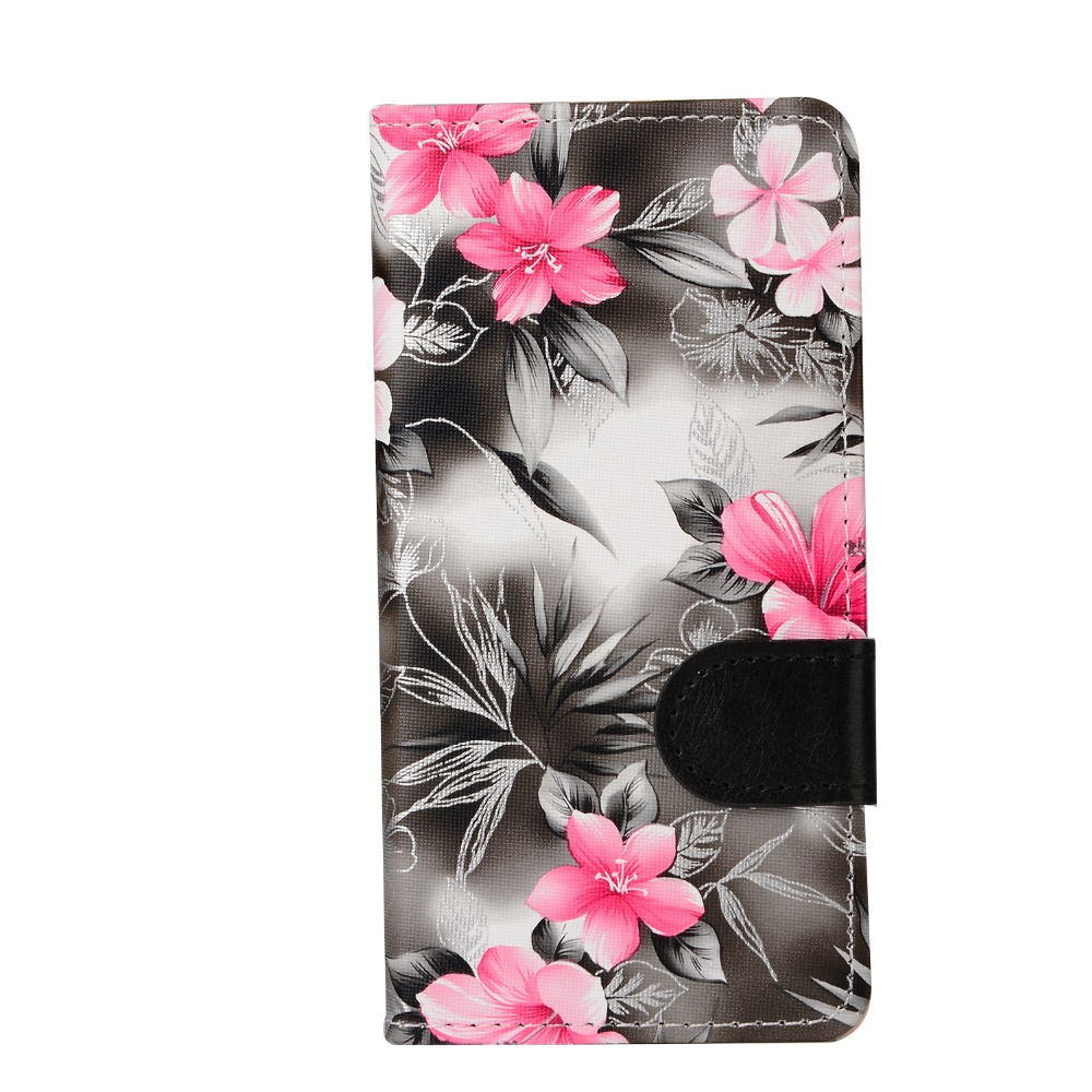 """Ascend P9 Case PU Flower Leather Wallet Back Case Cover For Huawei Ascend P9 5.2"""" P9 Leather Cover Fundas Coque For Huawei P9(China (Mainland))"""