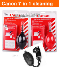 7 in 1 Professional Lens Cleaning Kit + Camera Leather Grip Wrist Hand Strap For Canon/SLR cameras(China (Mainland))