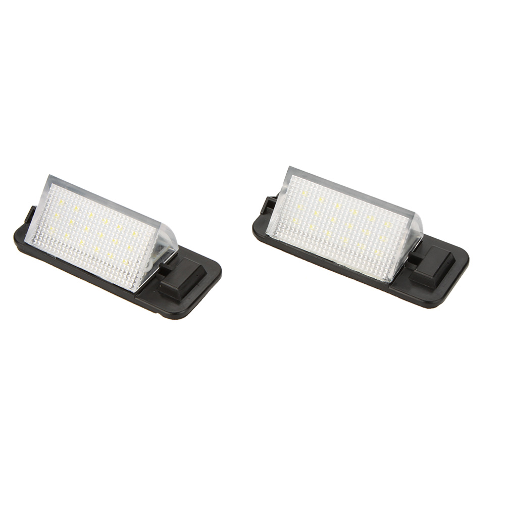 2 X 18 3528 SMD LED License Number Plate Light Lamps for BMW 3-series E36(1992-1998) White 6000-6500K 12V Car Licence Tail Light(China (Mainland))
