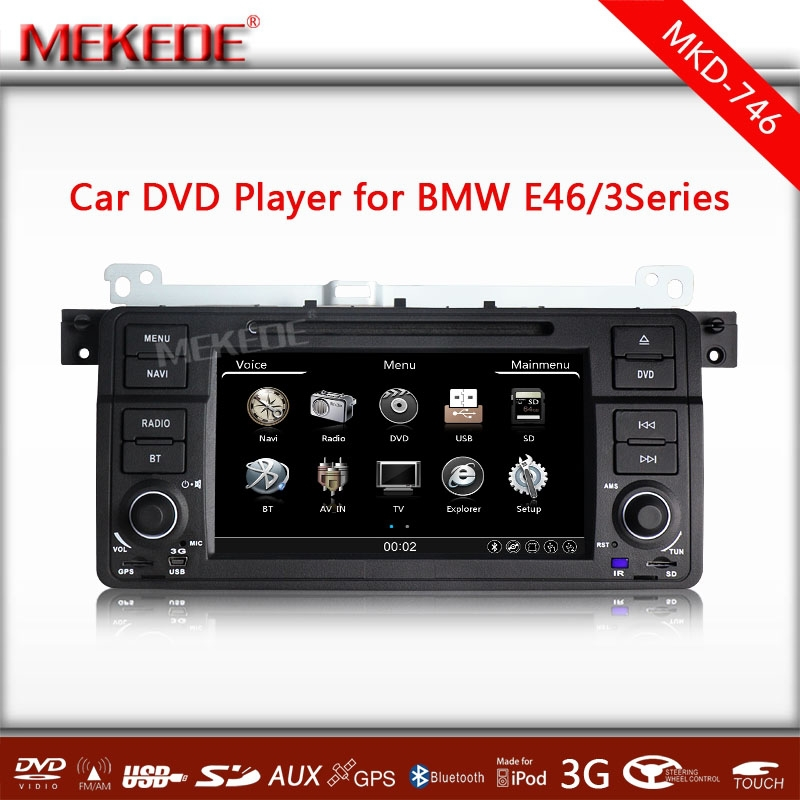 free map+A Touch screen 7 in dash head unit car dvd gps navigation player multimedie for E46 for 325i 325xi 325ci 330i 330ci<br>