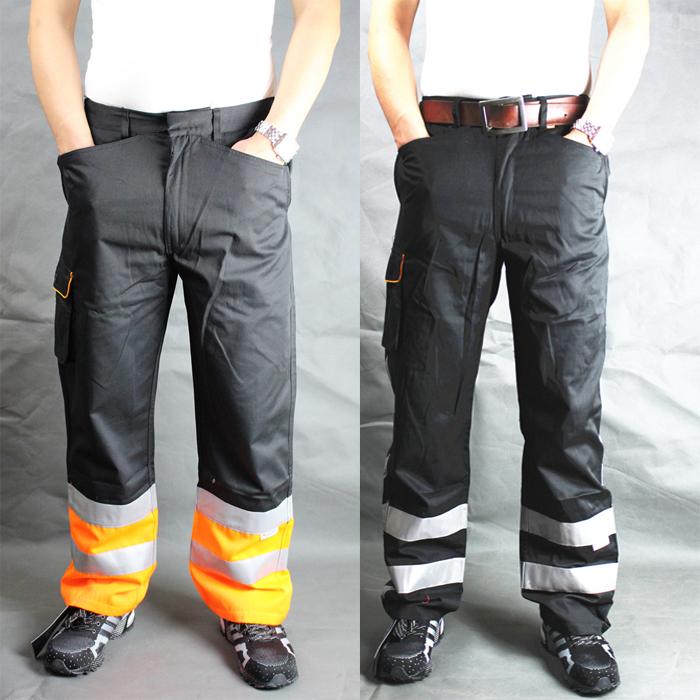 High visibility work pant orange safety pant reflective pant work pant with reflective stripes