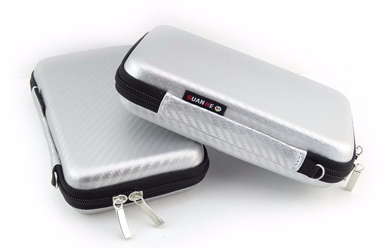 Mini Digital Tool Pouch Travel Silver Storage Bag for Earphone, USB Flash Drive ,SD Card, Data Cable, Phone, External Battery
