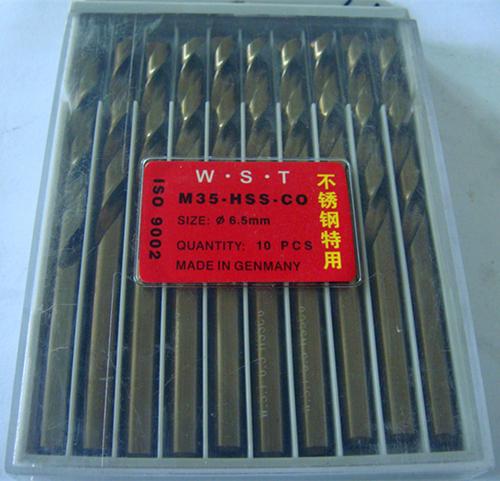 6 5MM Cobalt drill bit Straight Shank Twist Drill bit 10pcs 1lot M35 Material