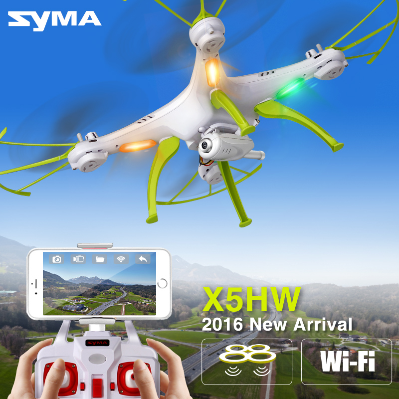 2016 Newest Syma X5HC/X5HW Aerial Photography RC Helicopter Quadcopter Drone with Camera HD 2.4G 4CH FPV Dron Hot Sale Toys Nerf(China (Mainland))