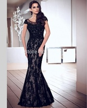 Buy Sexy Black Long Lace Mermaid Evening Dresses Party Wedding Custom Made Formal Evening Gowns Dresses robe de soiree longue for $162.00 in AliExpress store