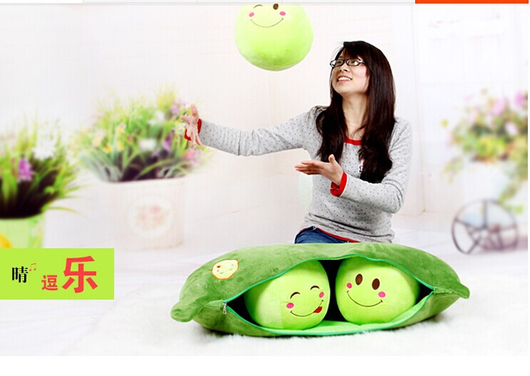 stuffed plush 70cm plush toy cute 3 peas in a pod pea toy doll w2718(China (Mainland))