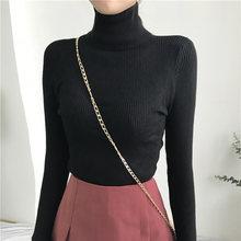 Aossviao 2019 Cao Cổ Ấm Nữ Áo Len Thu Đông Dệt Kim Femme Kéo Mỏng Cao Cấp Với Độ Đàn Hồi Nữ Áo Thun Áo Len(China)
