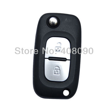 New Blank Flip Folding Remote Key Shell Case For Renault Koleos 2 Buttons  DKT0165