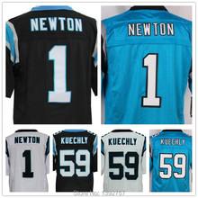 100% Stitched #1 Cam Newton Jerseys American Football #59 Luke Kuechly Elite 13 Kelvin Benjamin Jersey,Free Shipping(China (Mainland))
