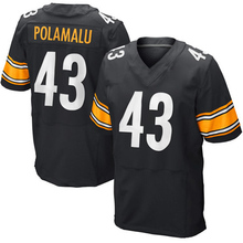 Stitched Adult Men's 7 Ben Roethlisberger #26 Le'Veon Bell Jersey 43 Troy Polamalu #25 Artie Burns White Black Elite Jerseys(China (Mainland))