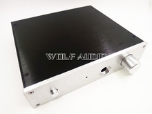 Buy Silver / Black Full Aluminum 2204E Headphone Amplifier Chassis Preamplifier Enclosure AMP BOX PSU CASE for $18.00 in AliExpress store