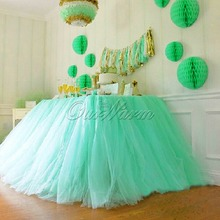 Tulle Tutu Table Skirt for Wedding Decoration White Wedding Table Skirts Event Party Supplies for Baby Shower Decoration(China (Mainland))