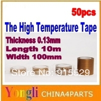 50pcs/ 10m*100mm*0.13mm The High Temperature  Heat Resistant Tape  /Free shipping(China (Mainland))