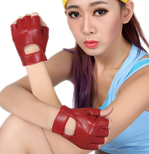 Men and women's fashion 100% Genuine leather semi-finger gloves summer slip-resistant mitring ride semi-finger male gloves